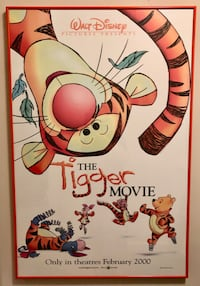 "Tigger watch & original Disney ""Tigger Movie"" Poster (framed) Bethesda"