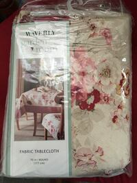 """70"""" round fabric tablecloth New Port Richey, 34653"""