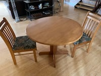 Solid oak table with two chairs Annandale, 22003