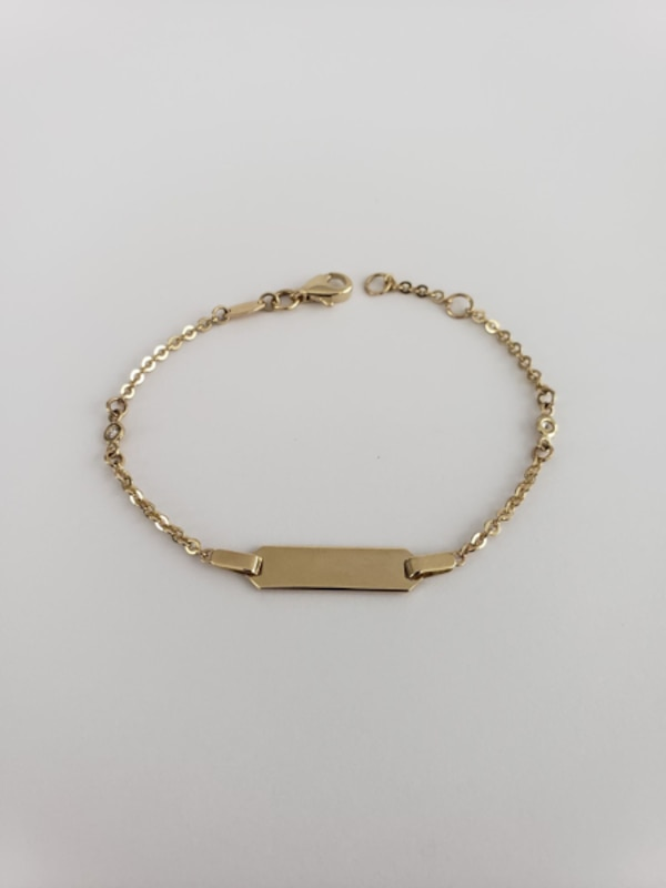 10k Yellow Gold Baby ID Bracelet 9