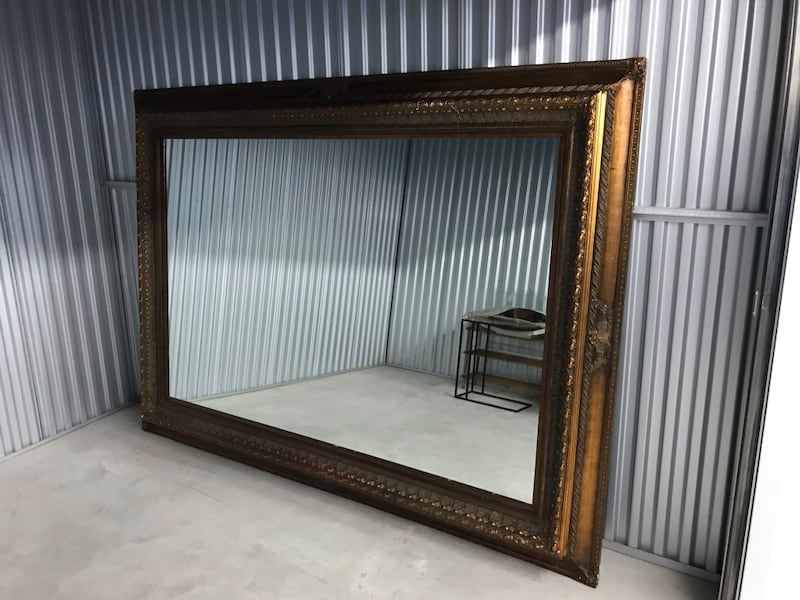 Incredible center piece mirror measuring  7.5 x5 feet.One of a kind.  08160699-3e99-47f6-a329-eb4a8c3f30e7