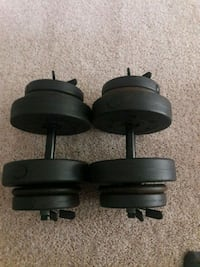 two black fixed weight dumbbells Ft. Washington, 20744