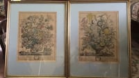 Pair of mounted and framed Vintage Williamsburg floral prints Newport News, 23601