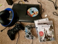 Ps3 with wireless headset and bunch of games Winnipeg, R3T 2G2