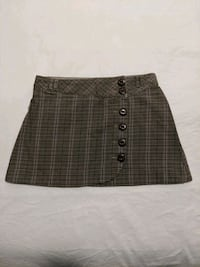 Plaid button up skirt brown, beige, pink size 3 Calgary, T2E 0B4