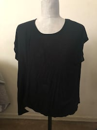 black scoop-neck shirt Spring Valley, 10952