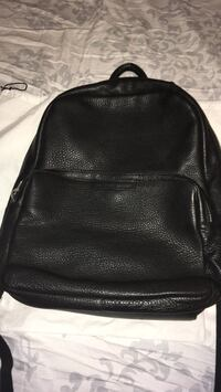 black leather backpack with fringe Los Angeles, 91402