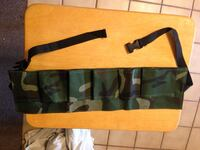 New camouflage material, adjustable tool belt