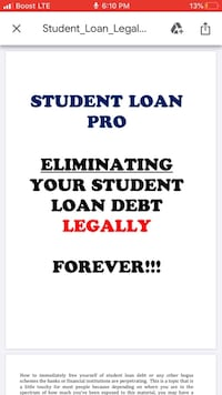 student loan removal