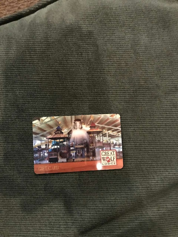 Used Great Wolf Lodge Gift Card For Sale In Massachusetts Letgo