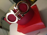 Red salvatore ferragamo belt Houston, 77087