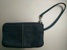 Leather wristlet bag