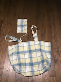 Reusable grocery bag with wallet holder