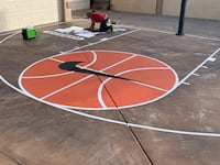 Basketball courts lines and team logos El Paso, 79912
