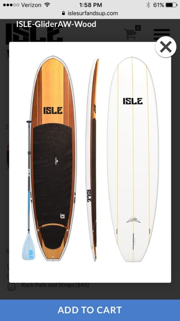 Used Paddle Boards >> 2 Isle Glider Aw Wood Paddle Boards