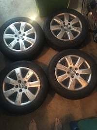 Volkswagen - Passat - 2007 Rims & 2 Good Tires, Rims are scratched up but, can be refurbished.  All 4 Tires Pressure Sensor are Good. Falls Church