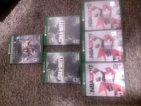four Xbox One game cases Anderson, 29625