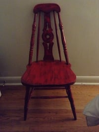red and brown wooden chair Barrie, L4M 2A9
