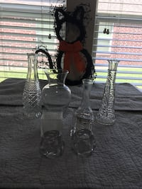 Assorted Glass Vases & Candle Holders League City, 77573