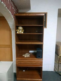 brown wooden cabinet with shelf Edmonton, T5X 3R9