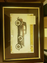 vintage car photo with brown wooden frame Mount Holly, 28120