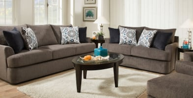 Gray Sofa and Loveseat Big and Comfy