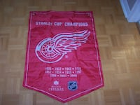 DETROIT RED WINGS - Molson Canadian STANLEY CUP BANNER Vaughan