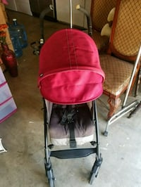 Plum with gray color stroller Madera, 93637