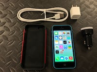 Used Working Blue Apple iPhone 5c  16GB Unlocked GSM Cell Phone Santa Ana