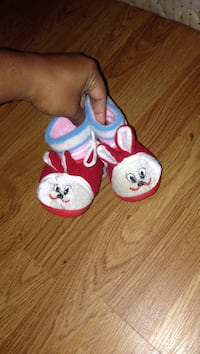toddler's pair of white-red-blue bunny shoes Halifax, B3M