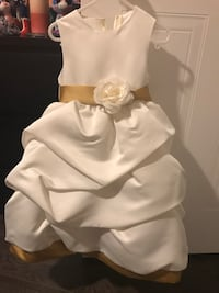 Children's white and gold dress