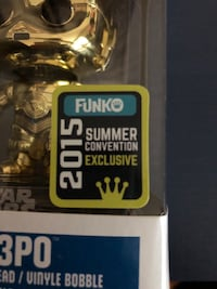 Pop ! Star Wars LIMITED EDITON C-3PO Vaughan, L4H 1C0