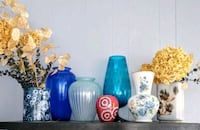 (7) Floral-Color-Heights Vases Manchester Township, 08759