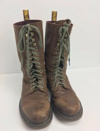 Bridge Dark Brown Fold Over Boots (Size 7)