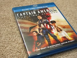 LIKE NEW Captain America blu-ray/dvd/digital copy