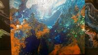 blue, yellow, and red abstract painting Winnipeg, R3L 1P6