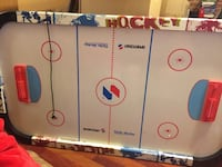 white and blue air hockey table Washington, 20009