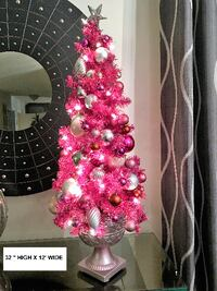 PINK TREE WITH LIGHTS Richmond Hill