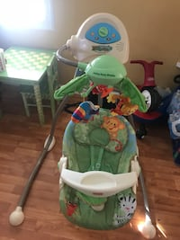 baby's white and green cradle and swing Manassas