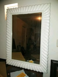 white wooden framed wall mirror North Las Vegas, 89031