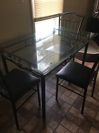 Glass kitchen table and 3 chairs  Egg Harbor Township, 08234