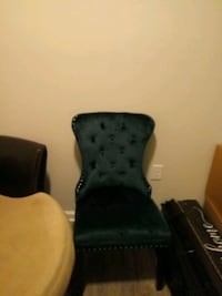 2pc Teal velvet chairs Savannah