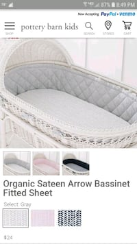 Pottery Barn Kids Oval Fitted Crib Sheet Lawrence Township, 08648