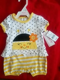 baby's white and yellow onesie new with tags  Sandy, 84092