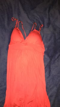 women's red spaghetti strap dress Prince George