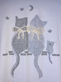 Cat white shirt