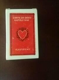 red and white Zippo flip card