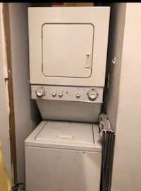 GAS GAS GAS ! White stackable GAS  washer and dryer.