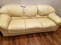 white leather 3-seat sofa Clarksburg, 20871