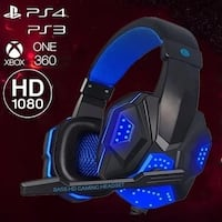 Surround Stereo Gaming Headset Headband Headphone Wired USB 3.5mm LED With Mic brand new   $60.00 SURREY